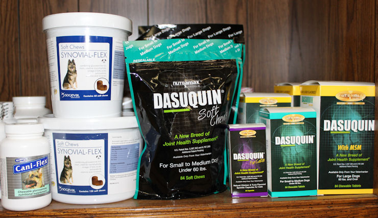 Joint supplements for dogs and cats- Dasuquin and Synovichews